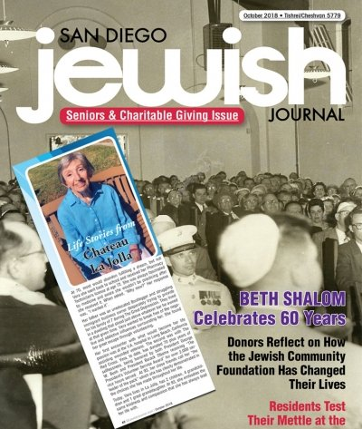 Featured in The San Diego Jewish Journal