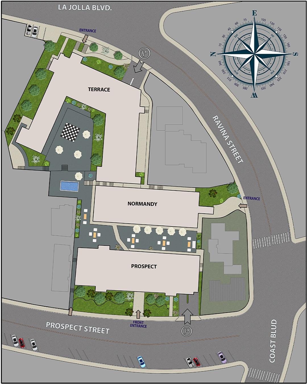 Chateau La Jolla Retirement Community Map