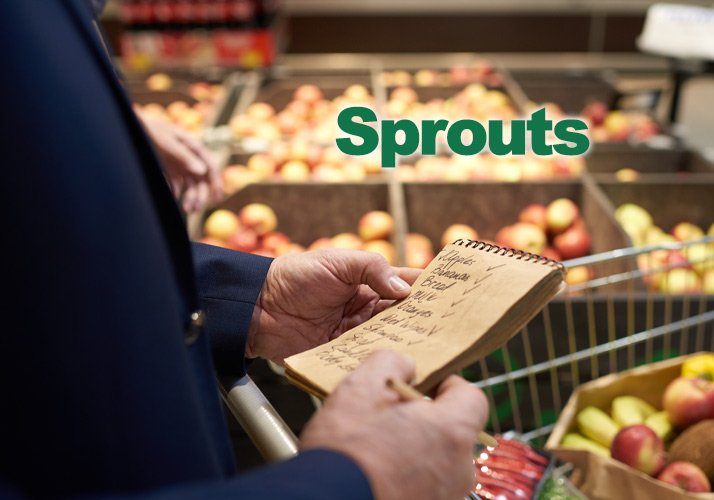 Senior Grocery Shopping at Sprouts